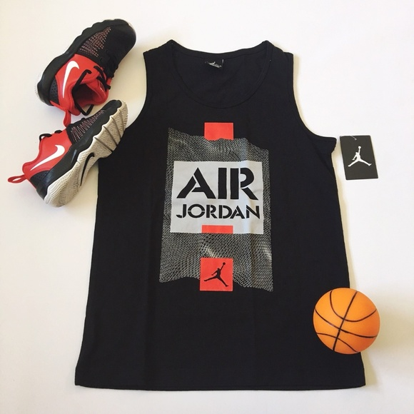 c21d92294dc049 Nike Air Jordan Spell Out Jumpman Tank Top